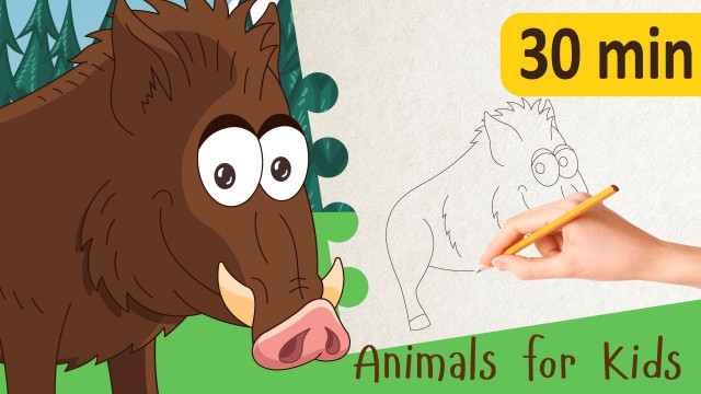 Learning animals for kids || Videos for toddlers || Learn English for kids