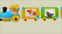 Голоса домашних животных-веселый паровоз- Звуки домашних животных- мультик