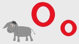 Слова на букву О - мультики для самых маленьких-Учим буквы-буква О