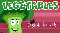VEGETABLES FOR KIDS! Learning english words - cartoon vegetables for toddlers